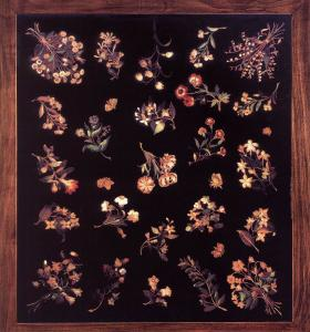 Model for a pietre dure table top