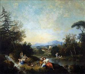 Landscape with Girls at the River