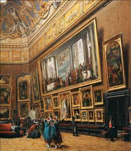 View of the Grand Salon Carré in the Louvre (detail)