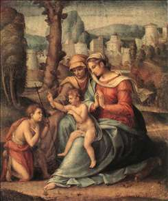 Madonna with Child, St Elisabeth and the Infant St John the Baptist