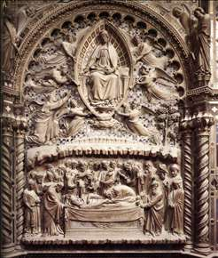 Dormition and Assumption of the Virgin, detail of the Tabernacle