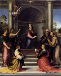 The Incarnation with Six Saints