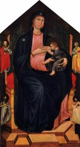 Virgin and Child Enthroned and Four Saints