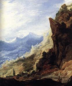Large Mountain Landscape (detail)