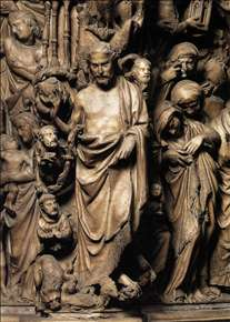 Apocalyptic Christ, relief from the pulpit