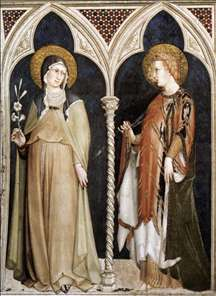 St Clare and St Elizabeth of Hungary