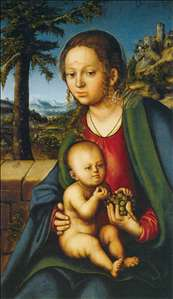 Virgin and Child with a Bunch of Grapes
