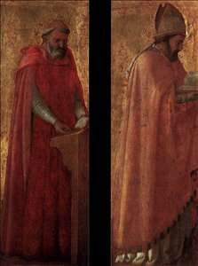 Two panels from the Pisa Altarpiece