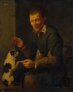 Peasant with a Dog