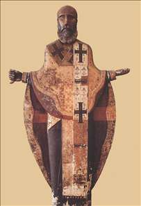 Sculpture of St Nicholas of Mozhaisk