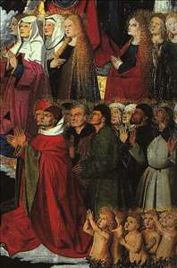 The Coronation of the Virgin, detail: the crowd