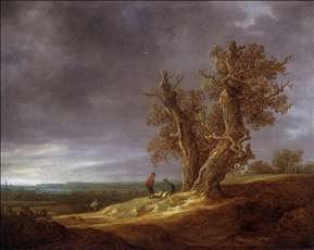 Landscape with Two Oaks