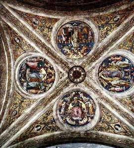 The ceiling with four medallions