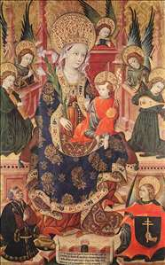 Madonna with Angels Playing Music and Donor