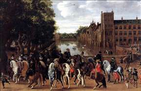The Princes of Orange and Their Families Riding Out from the Buitenhof