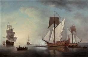 Departure from England of Francis, Duke of Lorraine, 1731