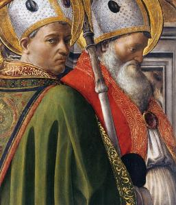 Sts Augustine and Ambrose (detail)