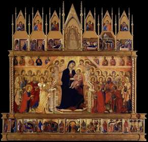 Conjectural reconstrruction of the Maestà (front)
