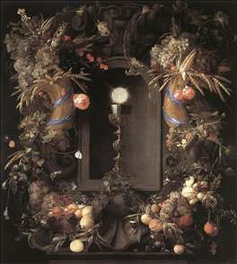 Eucharist in Fruit Wreath