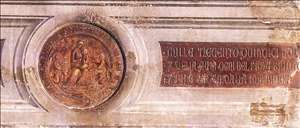 Maestà (detail of the medallions)