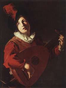 Lute Playing Young