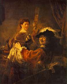 Rembrandt and Saskia in the Scene of the Prodigal Son in the Tavern