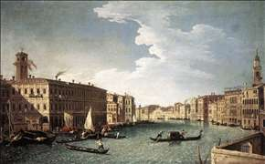 The Grand Canal with the Fabbriche Nuove at Rialto