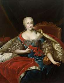 Portrait of Johanna Elisabeth, Princess of Anhalt-Zerbst