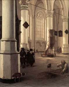 Interior of the Nieuwe Kerk at Delft