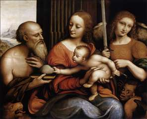 Madonna and Child with Sts Jerome and Michael