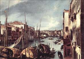 The Grand Canal with the Rialto Bridge in the Background