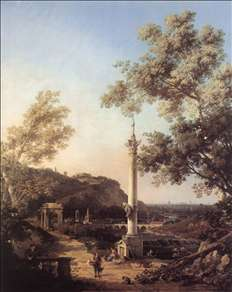 Capriccio: River Landscape with a Column
