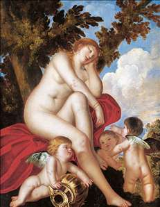 Sleeping Venus with Putti