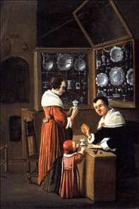 Interior of a Dutch Shop Selling Gold and Silver