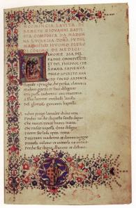 Manuscript with Poems by Lucrezia Tornabuoni