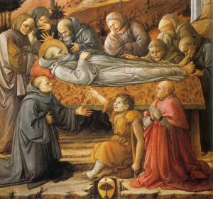 Funeral of St Jerome (detail)