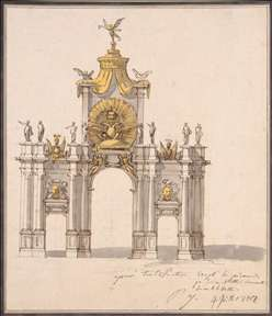 Design of the Decoration for the Triumphal Red Gate in Moscow