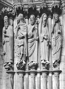 Figures on the north transept