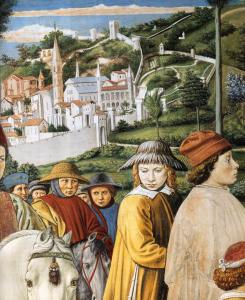 St Augustine Departing for Milan (detail)