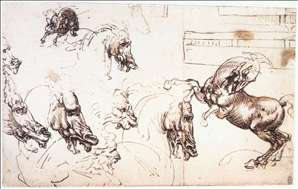 Study of horses for the Battle of Anghiari