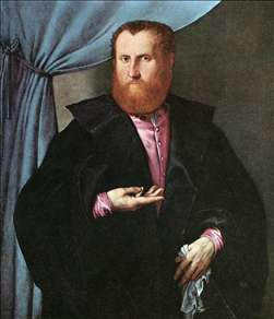 Portrait of a Man in Black Silk Cloak