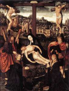 Crucifixion with Donors and Saints