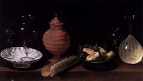Still-Life of Glass, Pottery, and Sweets