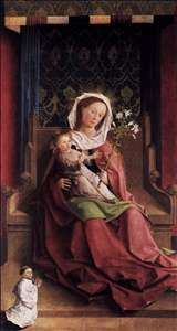 Darmstadt Altarpiece: Virgin and Child Enthroned