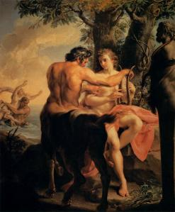 Achilles and the Centaur Chiron