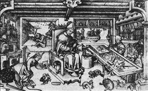 St Eligius in His Workshop
