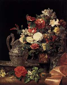 Bouquet in an Attic Bell Crater