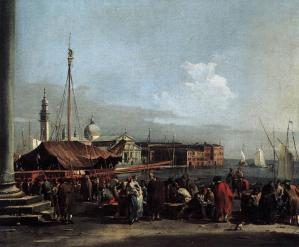 The Market at the Molo with the View of San Giorgio Maggiore