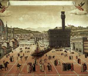 Execution of Savonarola on the Piazza della Signoria