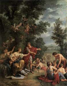 Ceres Teaching Agriculture to King Triptolemus